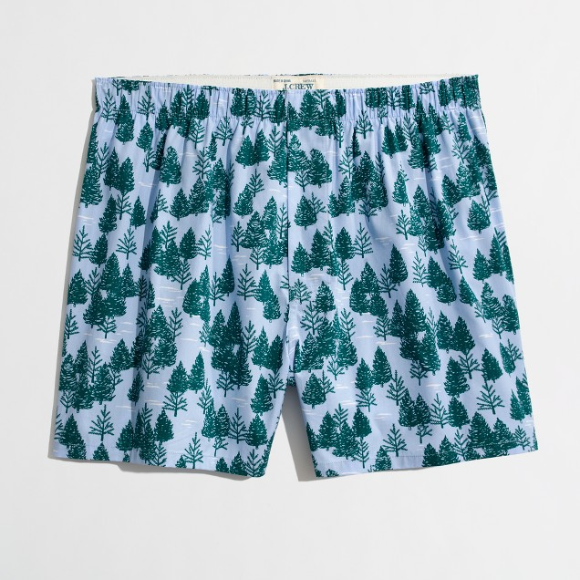 Factory winter forest boxers