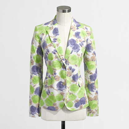 Factory printed blazer