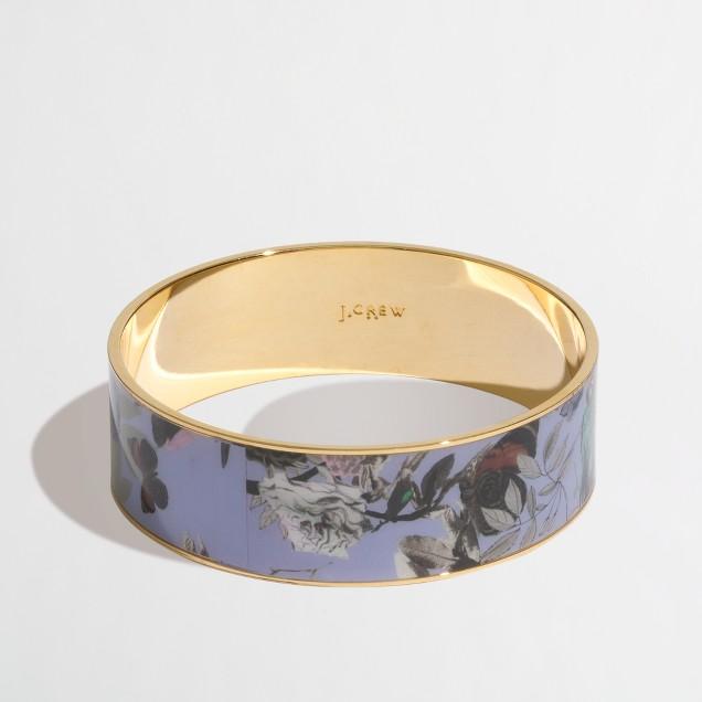 Factory printed bangle bracelet