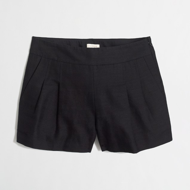 "4"" pleated short"