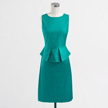 Factory stretch cotton peplum dress