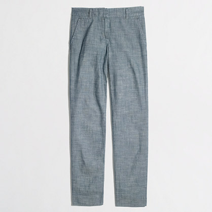 Factory skimmer pant in chambray