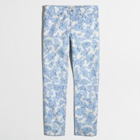 Factory skinny jean in printed twill