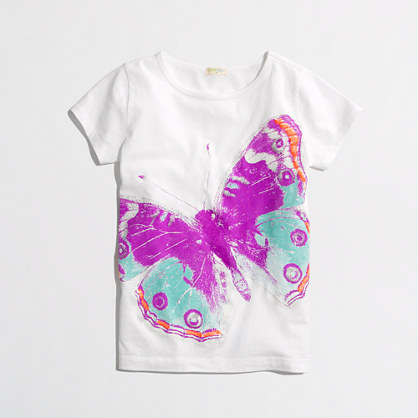 Factory girls' glow-in-the-dark butterfly keepsake tee