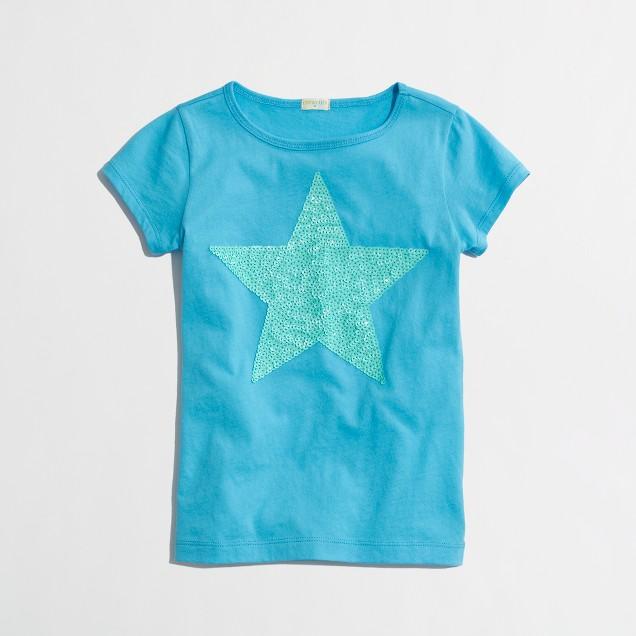 Factory girls' sequin star keepsake tee