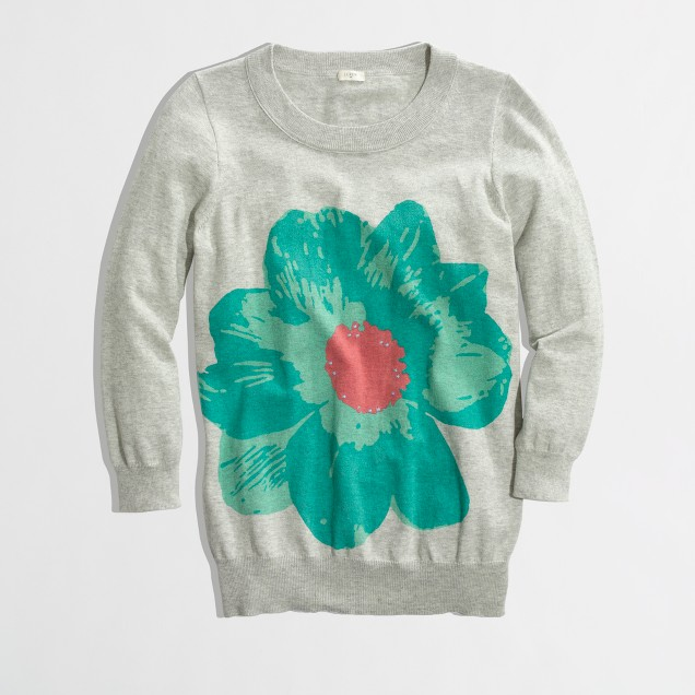 Factory Charley sweater in oversize flower