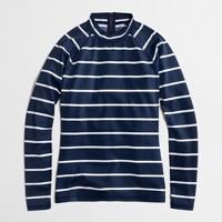 Factory rash guard in navy stripe
