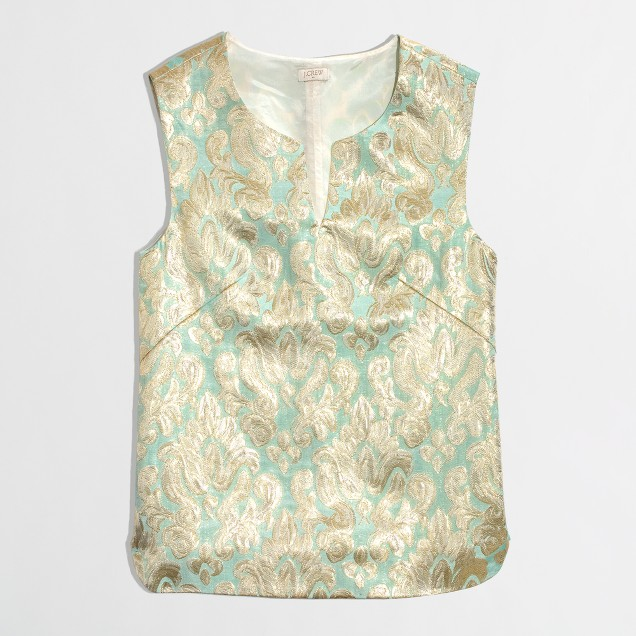 Factory gilded jacquard top in brocade