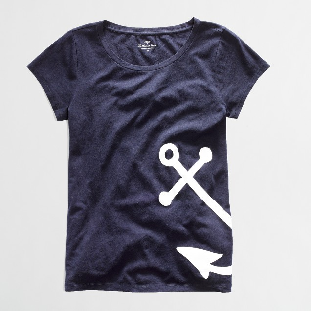 Factory navy anchor collector tee