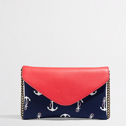 Factory envelope clutch in printed anchor