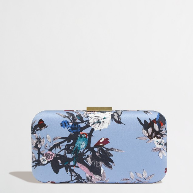 Factory minaudière in botanical bird print