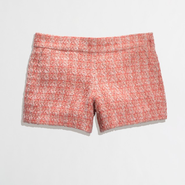Factory coral tweed short