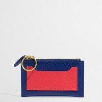 Factory leather zip pouch