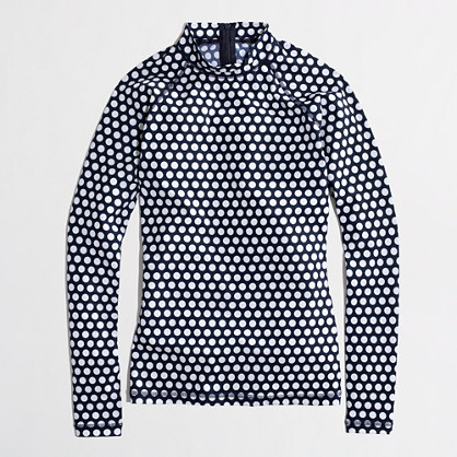 Factory rash guard in navy dot