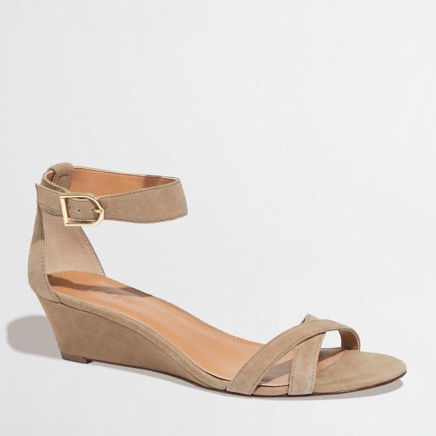 Factory demi-wedge sandals