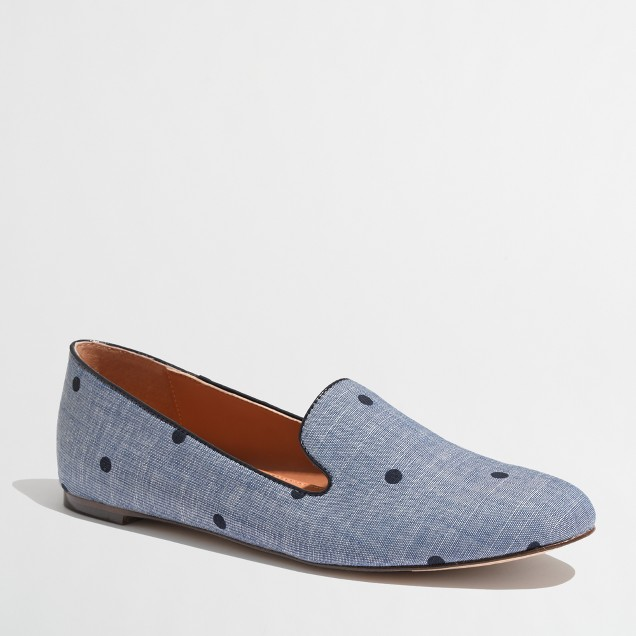 Factory Addie loafers in dotted chambray