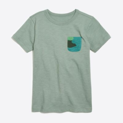 Boys' contrast-pocket t-SHIRT factoryboys knits & t-shirts c
