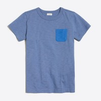 Boys' contrast-pocket t-SHIRT
