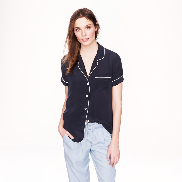 Collection silk short-sleeve pajama top