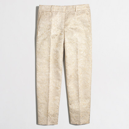 Factory skimmer pant in metallic brocade