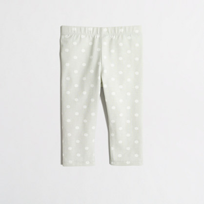 Girls' capri leggings in polka dot