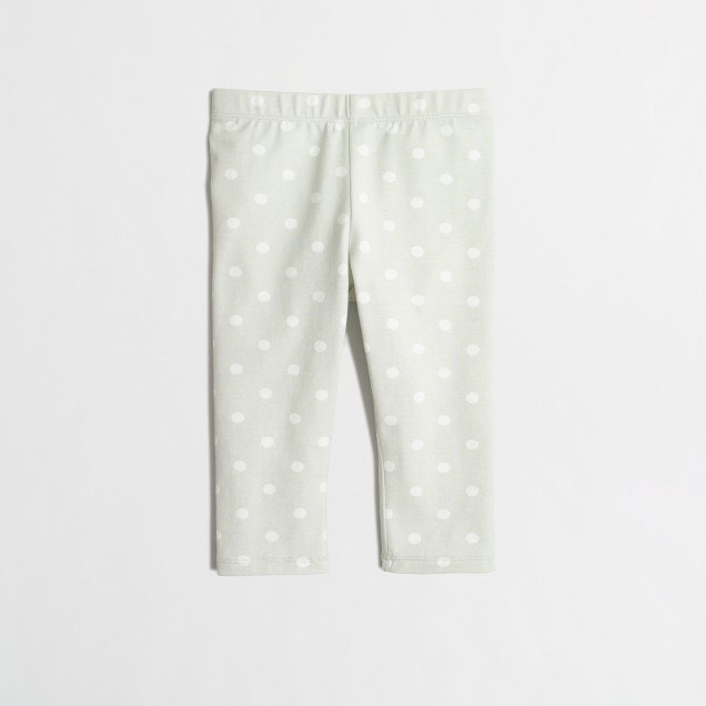 Girls' capri leggings in polka dot