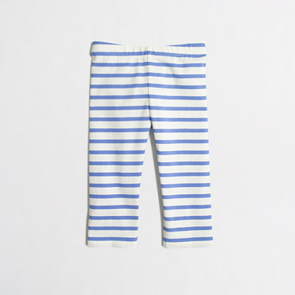 Girls' capri leggings in stripe