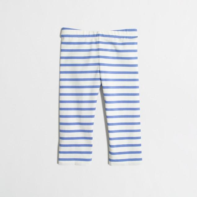 Girls' capri leggings in stripe