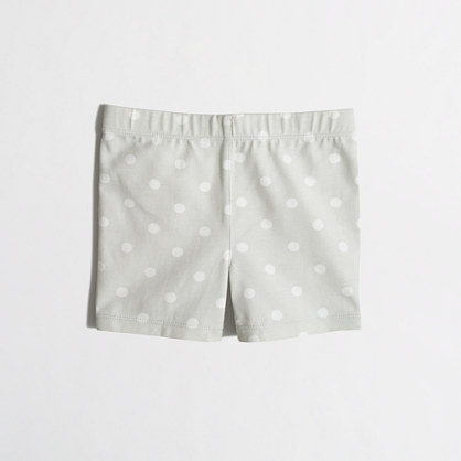 Girls' handstand short in polka dot