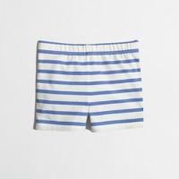 Girls' handstand short in stripe