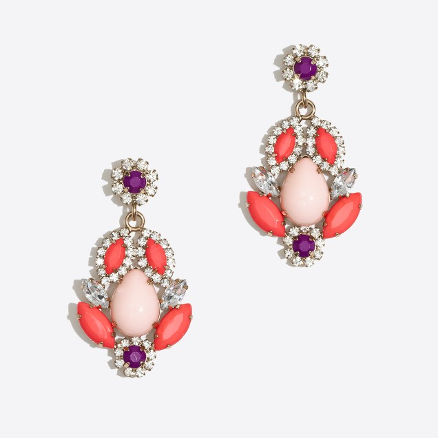 Factory crystal petal drop earrings