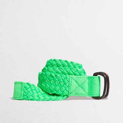 Kids' neon braided rope belt