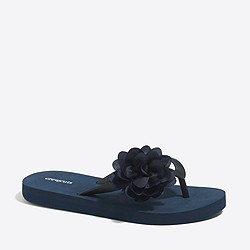 Factory girls' flower flip-flops