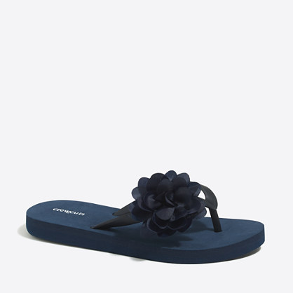 Girls' flower flip-flops
