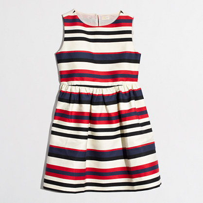 Factory girls' sleeveless stripe dress