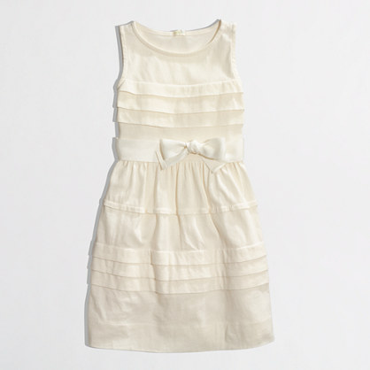 Factory girls' pintuck ruffle dress