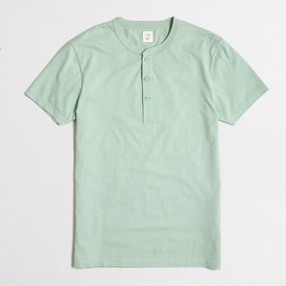Tall short-sleeve henley