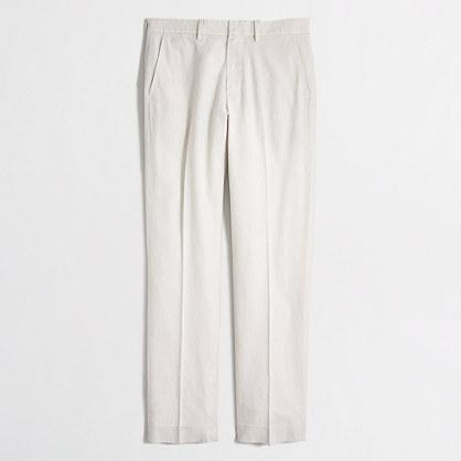 Slim linen-cotton Bedford dress pant