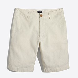 Linen-cotton beach short