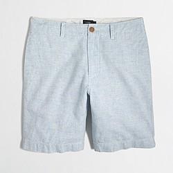 """Factory 9"""" linen-cotton beach short"""