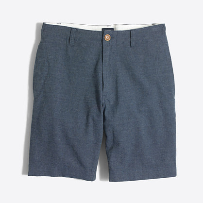 "9"" linen-cotton beach short"