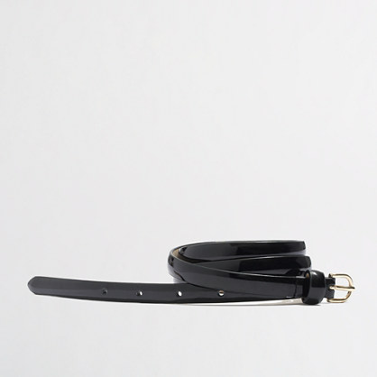 Factory superskinny patent belt