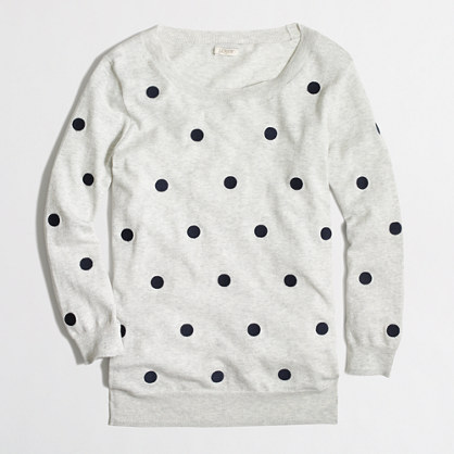 Factory embroidered dot pullover