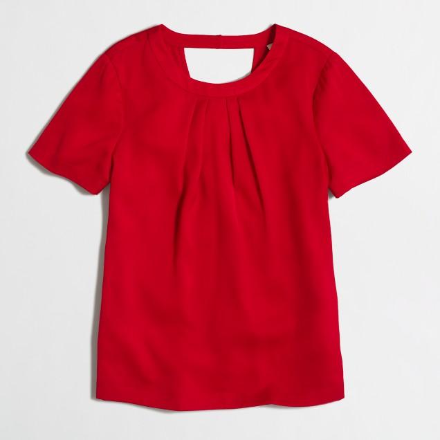 Crossed-back drapey top