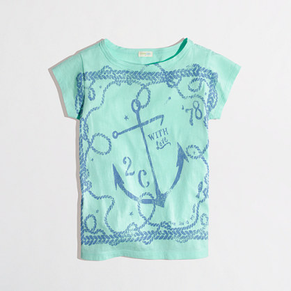 Factory girls' rope and anchor keepsake tee