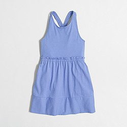 Factory girls' cross-back dress