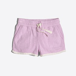 Factory girls' pull-on short with pockets