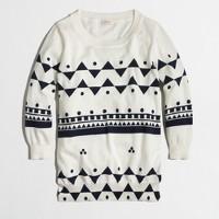 Factory Charley sweater in geometric print