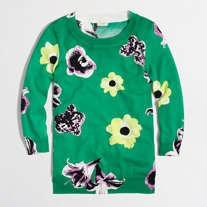 Factory Charley sweater in retro floral