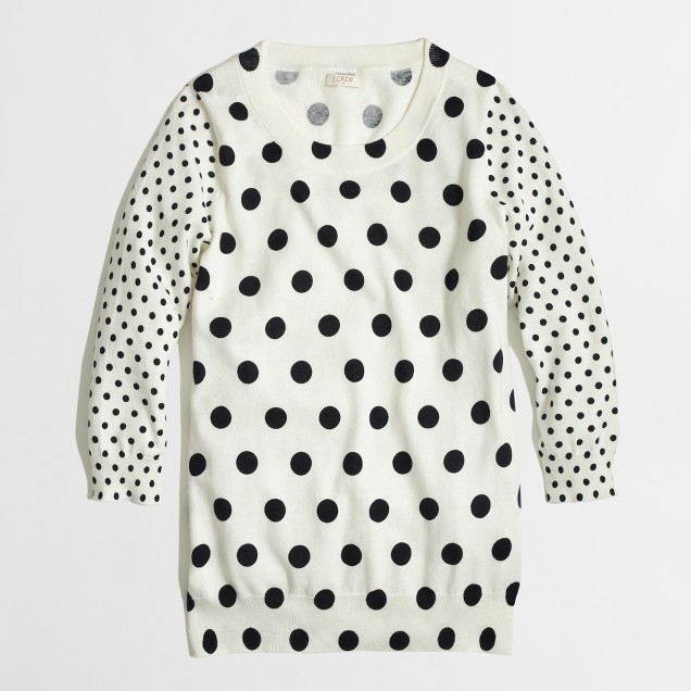 Factory Charley sweater in contrast dot